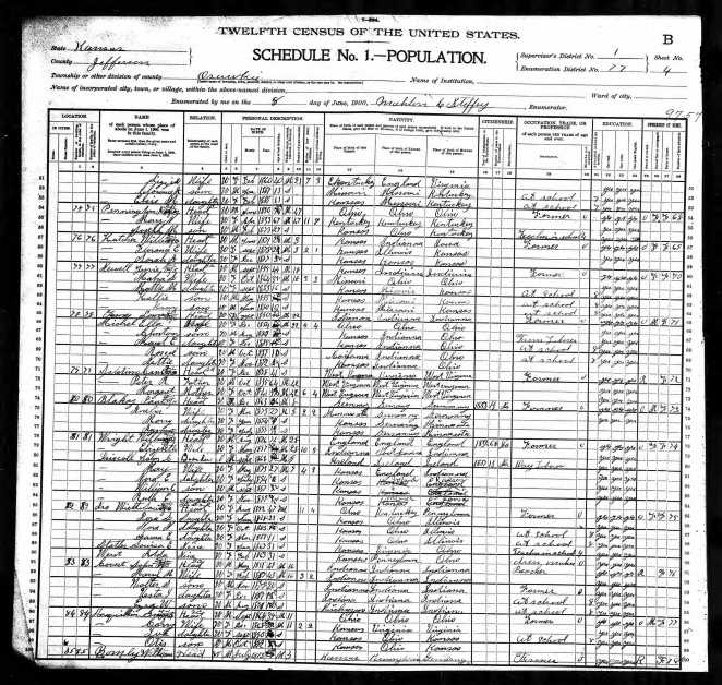 Vesta's census 1900